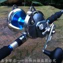 横向轮 鼓形鱼轮 深海渔轮 南油绞车钢轮收线器金黄色351金色大号