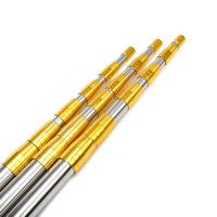 黄金版钓鱼超硬加厚不锈钢抄网杆3米4米 6米伸缩定位抄网竿鱼叉杆