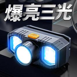 LED强光超亮头灯头戴式手电筒超长续航充电矿灯钓鱼轻户外氙气灯